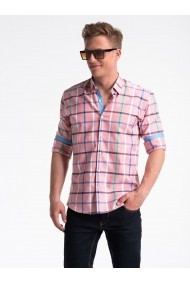 Camasa premium casual barbati  K493 roz