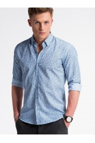 Camasa premium casual barbati  K475 alb albastru