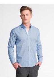 Camasa premium casual barbati  K469 alb albastru
