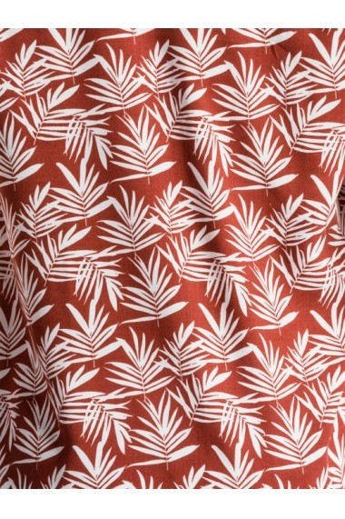 Camasa florala cu maneca scurta barbati K480 caramiziu