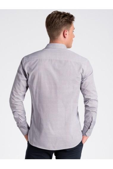 Camasa premium casual barbati  K469 alb rosu