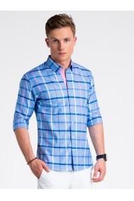 Camasa premium casual barbati  K493 albastru inchis