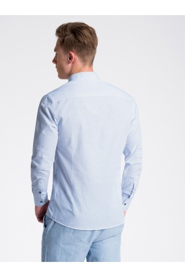 Camasa premium casual barbati  K477 alb albastru