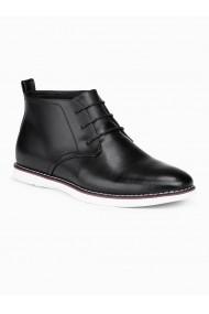 Pantofi piele naturala barbati  T318 negru