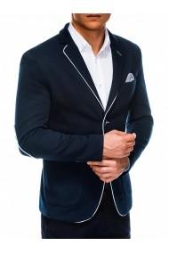 Sacou pentru barbati bleumarin casual slim fit cu buzunare aplicate elegant inchidere doi nasturi  M81