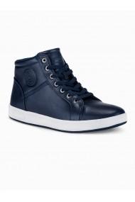 Pantofi inalti barbati T328 bleumarin