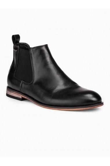 Pantofi inalti barbati T321 negru