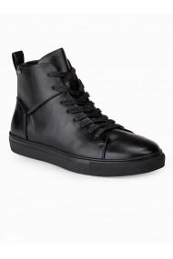 Pantofi inalti barbati T322 negru