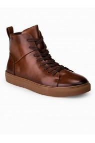 Pantofi inalti barbati T322 maro