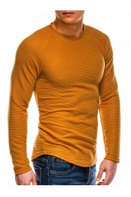 Bluza slim fit barbati B1021 galben