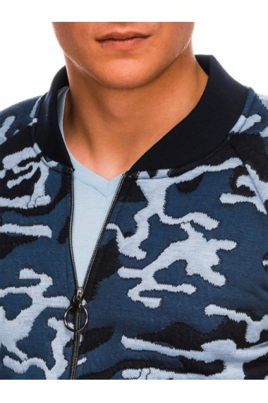Bluza casual barbati B1028 albastru camuflaj
