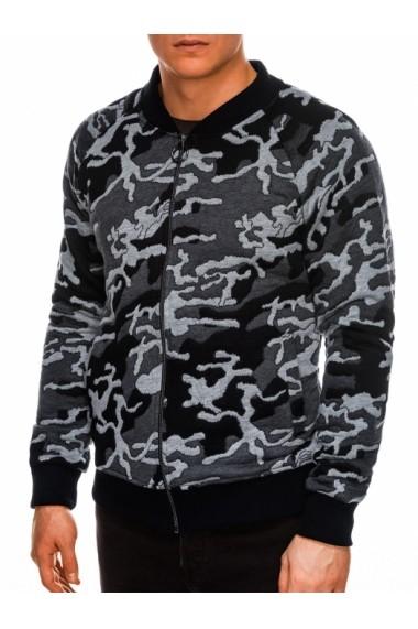 Bluza casual barbati B1028 gri camuflaj