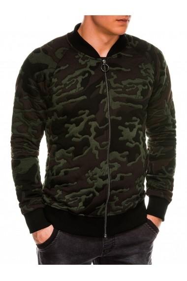 Bluza casual barbati B1028 verde camuflaj