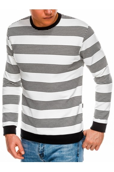 Bluza premium barbati B1065  alb negru