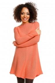 Pulover tricotat Fashion by HaineSelect asimetric 30046 Portocaliu