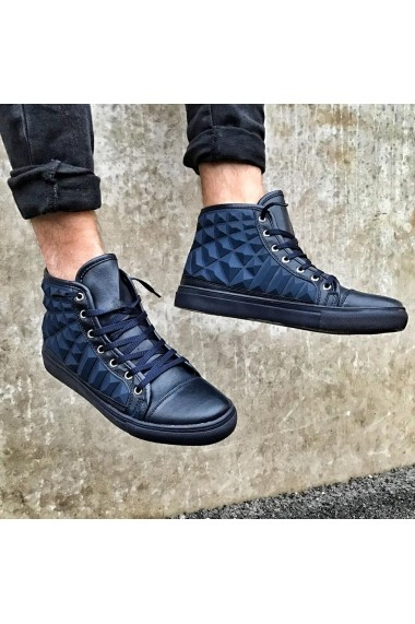 Pantofi sport BB Salazar cu design iesit in relief Bleumarin