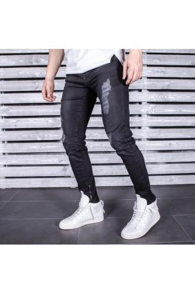 Jeans BB Salazar slim fit conici casual skinny 0052 Negru