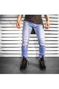 Jeans BB Salazar slim fit conici casual skinny 0058 Albastru