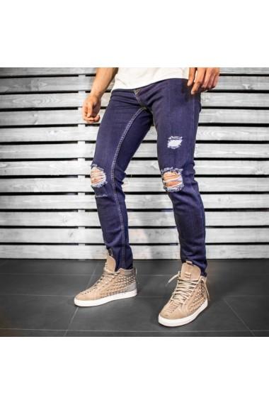 Jeans BB Salazar slim fit conici casual skinny P415 Bleumarin