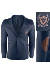 Sacou pentru barbati bleumarin casual slim fit inchidere un nasture  royal blue