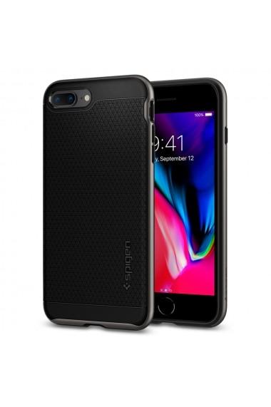 Husa iPhone 8 Plus / 7 Plus Spigen Neo Hybrid 2 Gunmetal