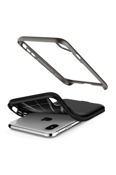 Husa iPhone XS / X Spigen Neo Hybrid Gunmetal