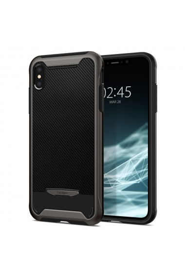 Husa iPhone XS / X Spigen Hybrid NX Gunmetal