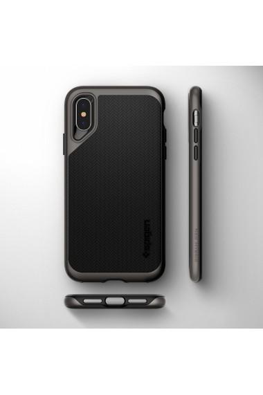 Husa iPhone XS Max Spigen Neo Hybrid Gunmetal