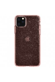 Husa iPhone 11 Pro Max Spigen Liquid Crystal Glitter Rose Quartz