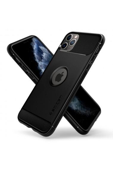 Husa iPhone 11 Pro Max Spigen Rugged Armor Black