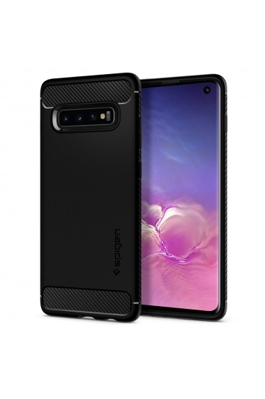 Husa Samsung Galaxy S10 G973 Spigen Rugged Armor Black