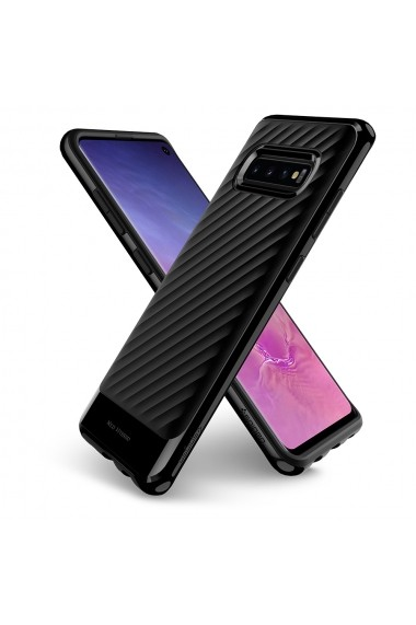 Husa Samsung Galaxy S10 G973 Spigen Neo Hybrid Midnight Black