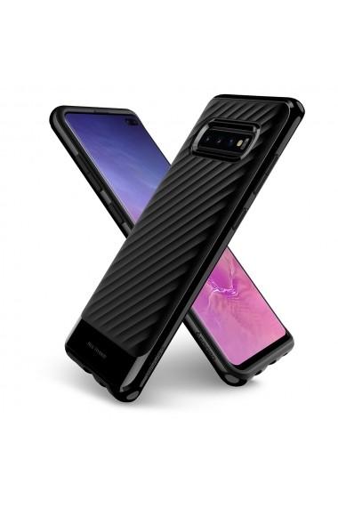 Husa Samsung Galaxy S10 Plus G975 Spigen Neo Hybrid Midnight Black