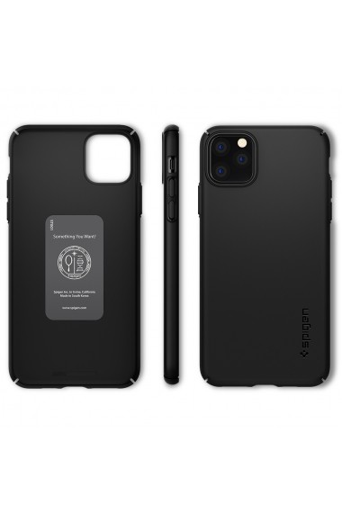 Carcasa iPhone 11 Pro Max Spigen Thin Fit Air Black