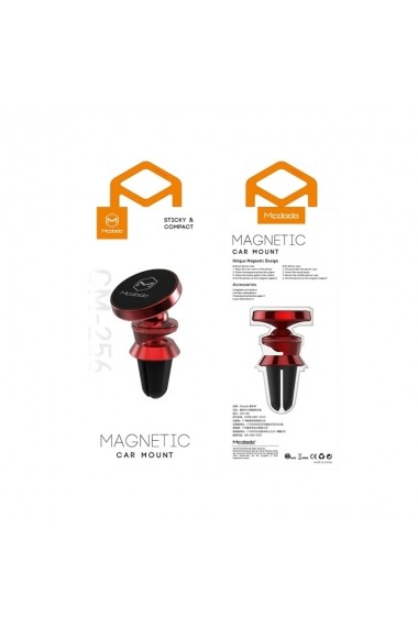 Suport Mcdodo Auto Magnetic Vent 360 Red (prindere la ventilatie)