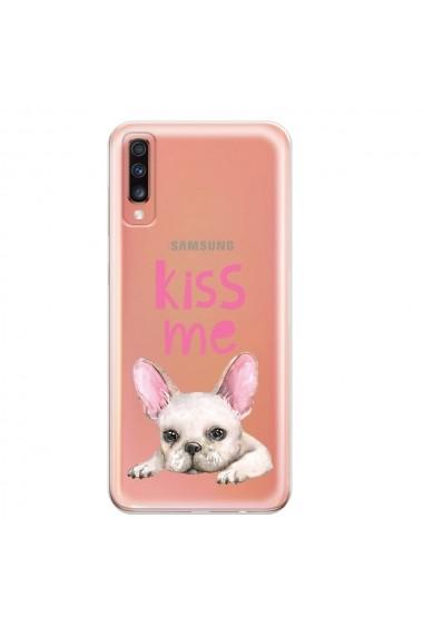 Husa Samsung Galaxy A70 Lemontti Silicon Art Pug Kiss