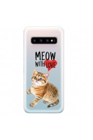 Husa Samsung Galaxy S10 G973 Lemontti Silicon Art Meow With Love