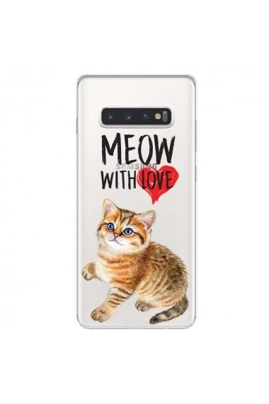Husa Samsung Galaxy S10 Plus G975 Lemontti Silicon Art Meow With Love