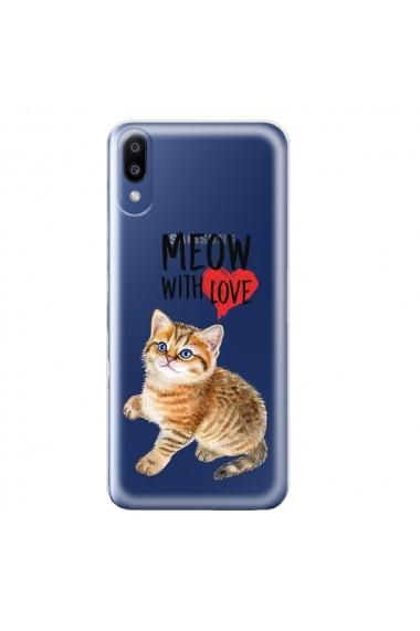 Husa Samsung Galaxy M10 Lemontti Silicon Art Meow With Love