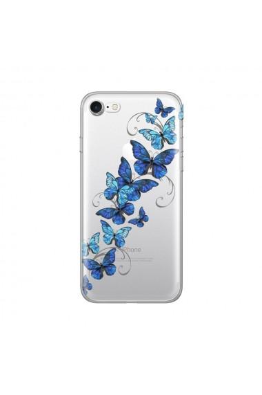 Husa iPhone SE 2 / 8 / 7 Lemontti Silicon Art Butterflies