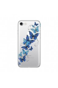 Husa iPhone SE 2 / 8 / 7 Lemontti Silicon Art Butterflies