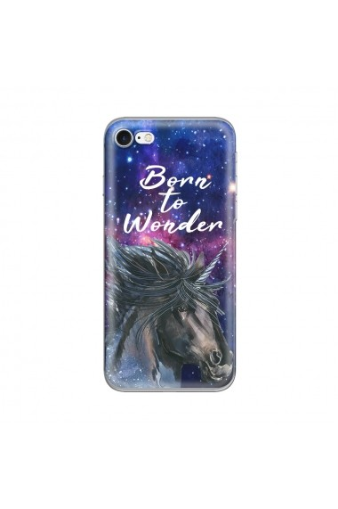 Husa iPhone SE 2020 / 8 / 7 Lemontti Silicon Art Born To Wonder