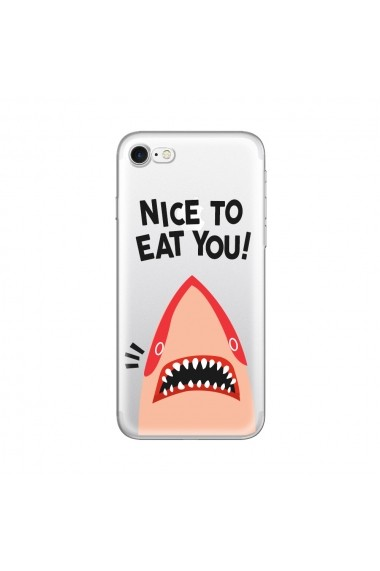 Husa iPhone SE 2 / 8 / 7 Lemontti Silicon Art Nice To Eat You