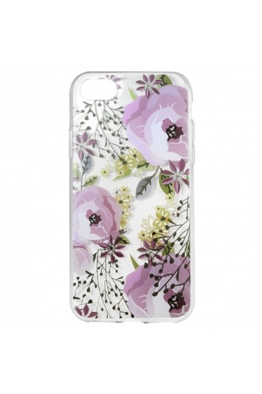 Husa iPhone SE 2 / 8 / 7 Lemontti Silicon Art Flowers