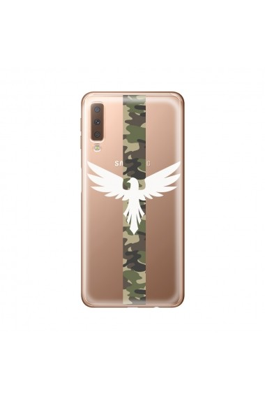 Husa Samsung Galaxy A7 (2018) Lemontti Silicon Art Army Eagle