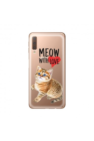 Husa Samsung Galaxy A7 (2018) Lemontti Silicon Art Meow With Love