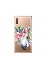 Husa Samsung Galaxy A7 (2018) Lemontti Silicon Art Watercolor Unicorn