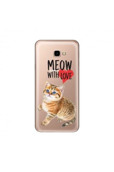 Husa Samsung Galaxy J4 Plus Lemontti Silicon Art Meow With Love