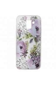 Husa Samsung Galaxy J6 (2018) Lemontti Silicon Art Flowers
