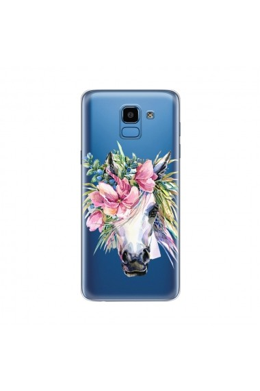 Husa Samsung Galaxy J6 (2018) Lemontti Silicon Art Watercolor Unicorn